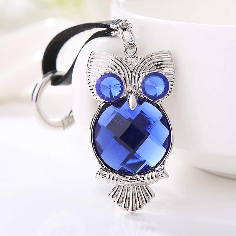 Xdpqq jóias chaveiro coruja estéreo cristal jóias presente carteira pingente de carro homens e mulheres joker pingente direto da fábrica