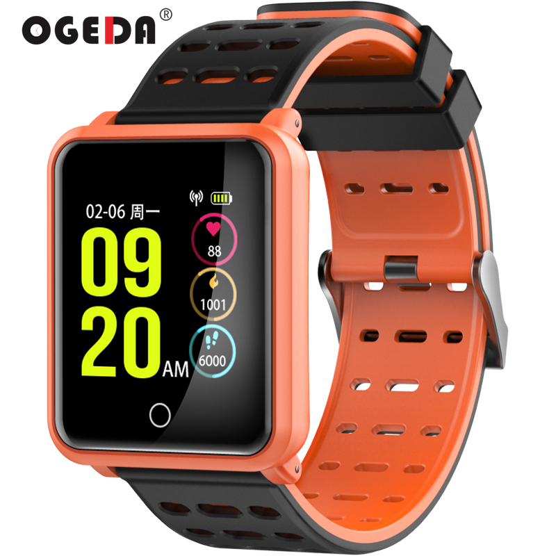 OGEDA Color LCD Sports Men Smart Watch Band Heart Rate Fitness Tracker Blood Pressure Smart Wristband Bracelet for IOS Android ogeda smart men watch bracelet sports band heart rate blood pressure blood oxygen monitor waterproof wristband fitness tracker