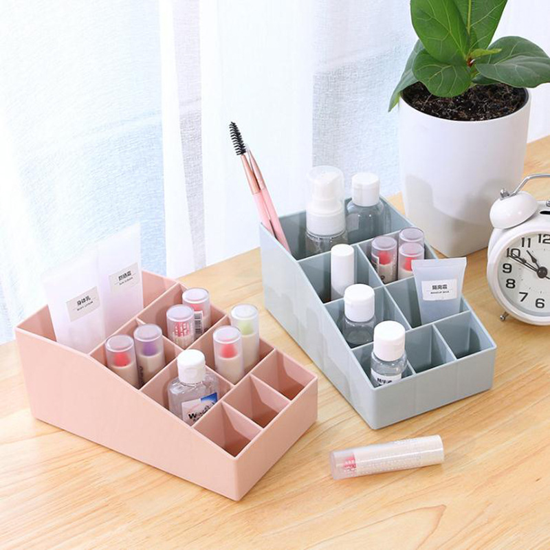Urijk 9 Grids Desktop Makeup Storage Box Lipstick Cases Cosmetic Case Sundries Jewelry Box Wholesale Desktop Organizer Dropship