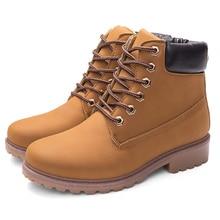 Мужские зимние ботинки Повседневное Кружево до Предметы безопасности рабочие ботинки осень Для мужчин на платформе теплая обувь Резиновые зимние сапоги человек большой Размеры