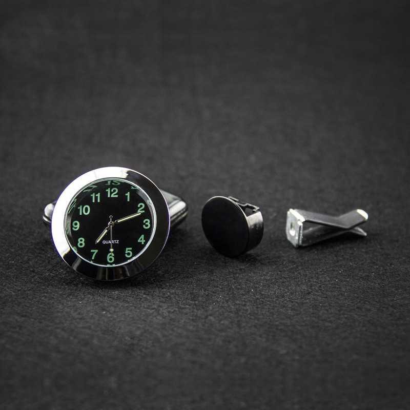 1PC Luminous wskaźnik samochodowy zegar Mini samochód odpowietrznik zegar kwarcowy z klipsem Auto wylot powietrza zegarek Car Styling dla samochodów części do wnętrza