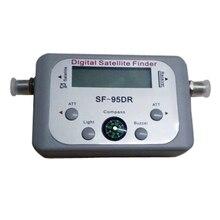 Numérique des Signaux Satellite Finder Compteur pour Plat Net travail Direc tv FTA avec Boussole et Audio Tone gris