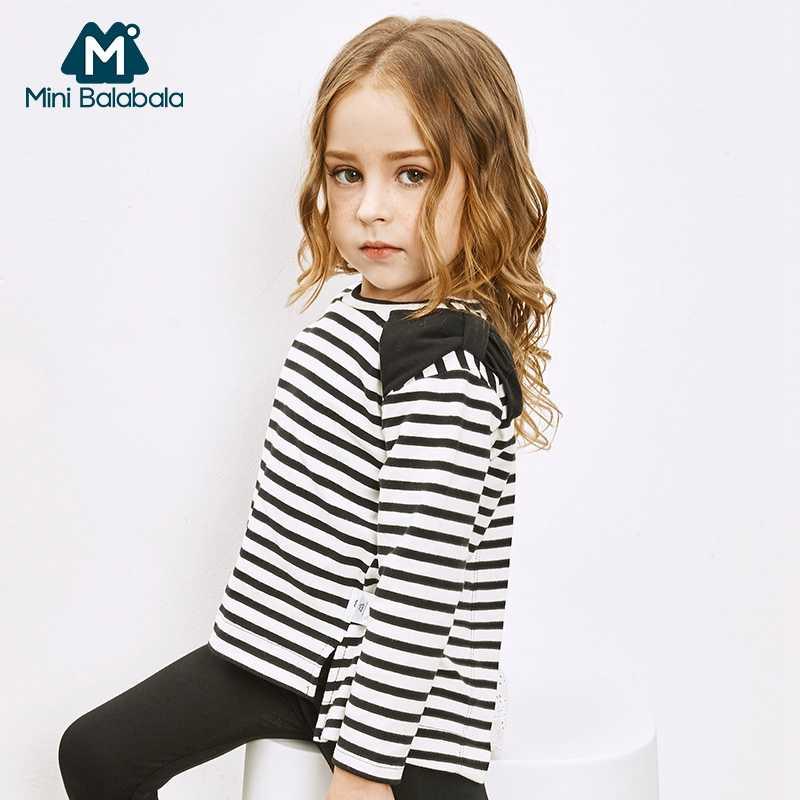 Детские хлопковые топы в полоску с воланом и кружевом для маленьких девочек; сезон весна-осень; футболки; одежда