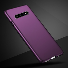 Luxury Frosted Case For Samsung S10 Plus 6.4 inch Hard PC Plastic Phone Case Back Cover For Samsung Galaxy S 10 S10 Plus Hosesje protective frosted plastic back case for samsung galaxy express i8730 black