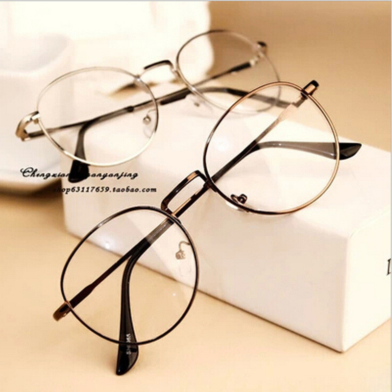 vintage luxury brand full rim gold eyeglass frame glasses frame retro spectacles round computer glasses unisex