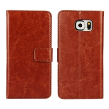 For Samsung Galaxy S6 Leather Case High quality Luxury Vintage Wallet Stand Card Holder Function Magnet Flip G9200 Cover
