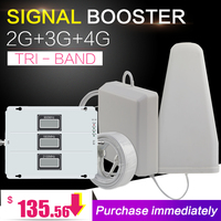 New Lintratek 2G 3G 4G Tri Band Cell Phone Signal Booster 70dB GSM Repeater 3G WCDMA