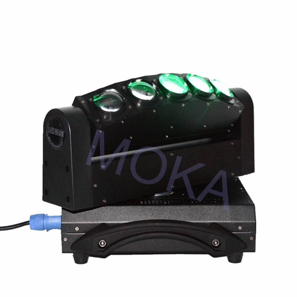 Luz de haz de MOKA de 5 cabezales de luz LED de 5X10 W DMX 4IN1 RGBW Luz de barra de discoteca de escenario en movimiento 3 clavija XLR enchufes TV LIVE SHOW proyector - 4