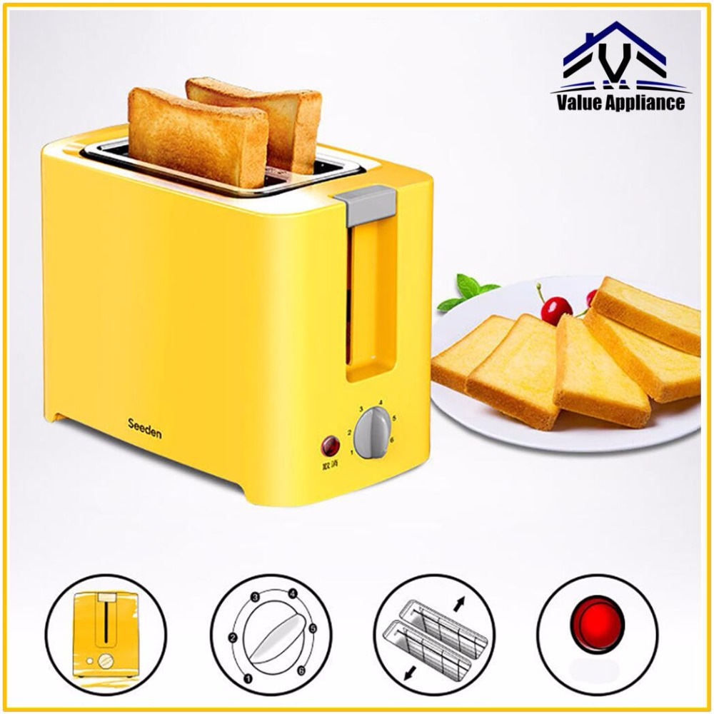 High Quality 6 Stalls 2 Slices Fast Bake Bread Toaster household automatic toaster Breakfast spit driver Breakfast Machine