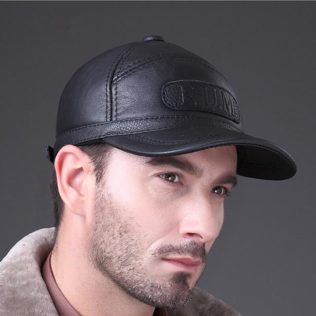 Hl062-2 nuevos hombres de 100% cuero genuino gorra de béisbol / vendedor de periódicos / la boina / Cabbie sombrero / sombreros del Golf / marca sombrero gorras