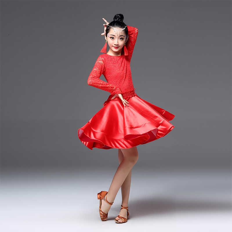 Современное платье для латиноамериканских танцев для девочек, Бальное детское профессиональное танцевальное платье для соревнований, детские танцевальные костюмы, платье для занятий сальсой, танго