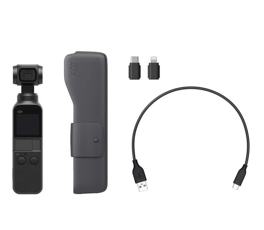В наличии! Джи Осмо карман 3 оси стабилизировалась ручной Камера 4 K 60fps видео интеллектуальное Осмо карман телефон однажды DJI NewPackage