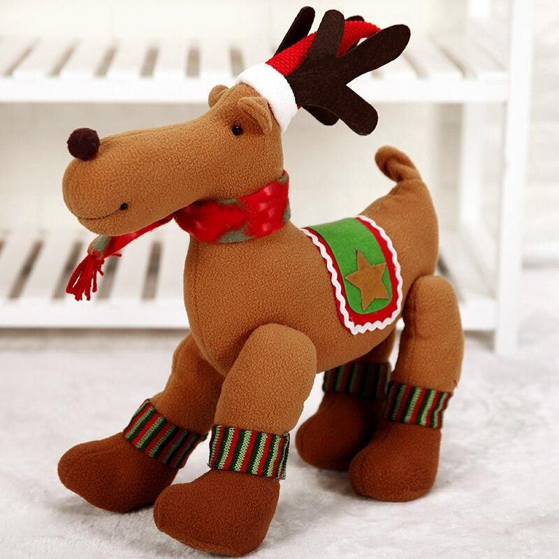 Kerst Navidad Christmas Scarf Deer Elk Plush Doll Ornaments Christmas Home Decorations Baby Shower