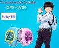 Y1 GPS + WI-FI do telefone móvel APP crianças posicionamento SOS inteligente relógios Q80 PK Q90 VK7 Q50 Q60
