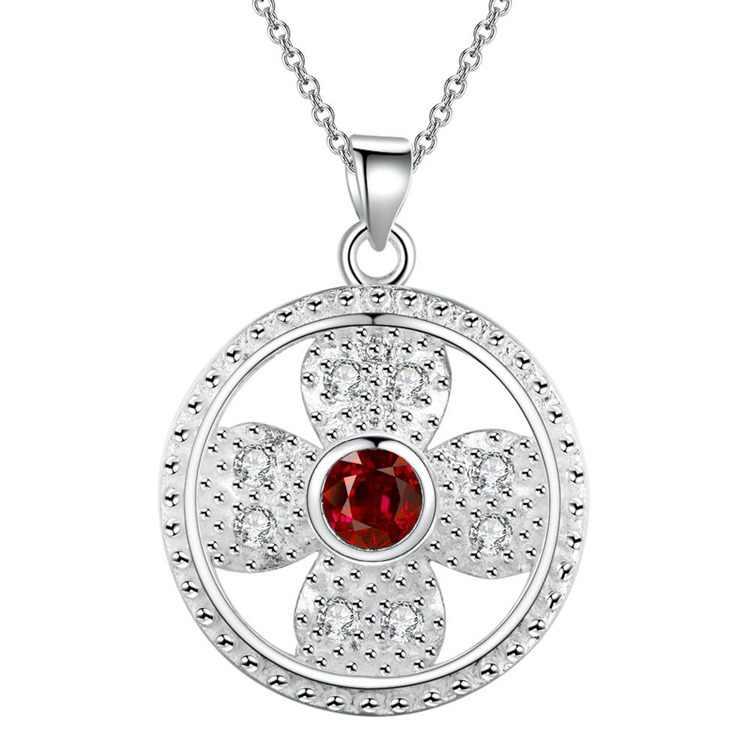 תכשיטי אופנה בציפוי כסף תכשיטים סיטונאי שרשרת תליון WN1846