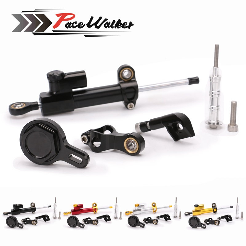 Motorcycle Adjustable Steering Stabilize Damper Bracket Mount Support Kit For YAMAHA YZF R6 2006-2016/ R1 2009-2012 ...