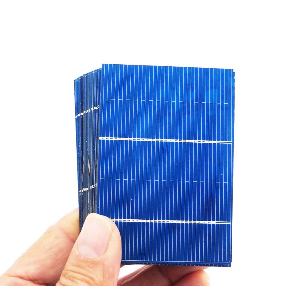 50Pcs Solar Cells Polycrystalline Photovoltaic Module Solar Panel DIY Solar Battery Charger Painel Solar 0.66W 78*52mm