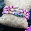 6mm Peach Blossom Jade Crystal Beads Bracelet For Women Gift Female Bracelet Fish Natural Stone Fashion Jewelry Making Design