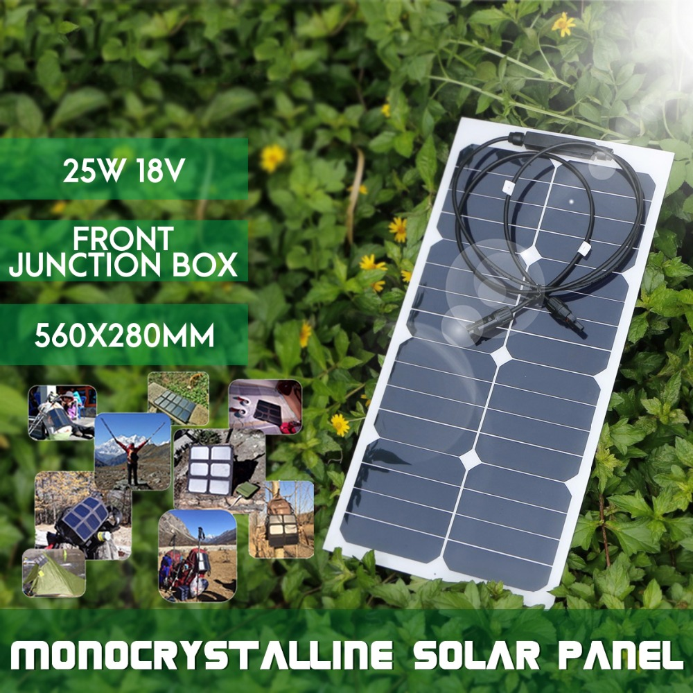 KINCO 25W 18V Semi Flexible Monocrystalline Sunpower Solar Panels DIY High Conversion Efficiency Solar Battery For Car BatteryKINCO 25W 18V Semi Flexible Monocrystalline Sunpower Solar Panels DIY High Conversion Efficiency Solar Battery For Car Battery