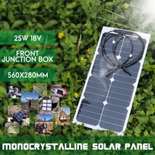 KINCO 25W 18V Semi Flexible Monocrystalline Sunpower Solar Panels DIY High Conversion Efficiency Solar Battery For Car Battery