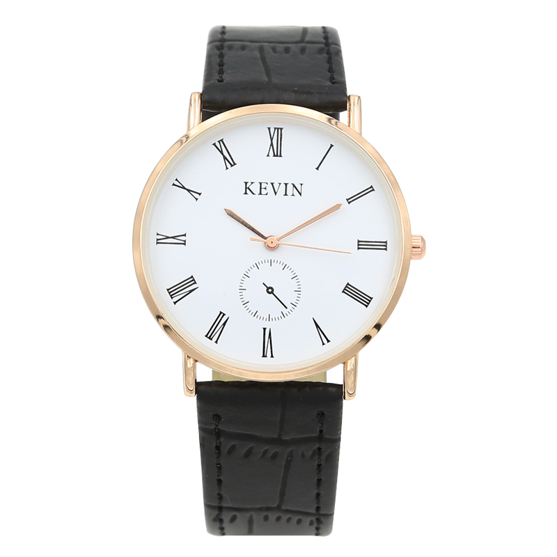 Kevin Brand Waterproof Black White Couple Watches Tables Fashion Harajuku Analog Big Dial Men Women Silicone Watch Dress Clock