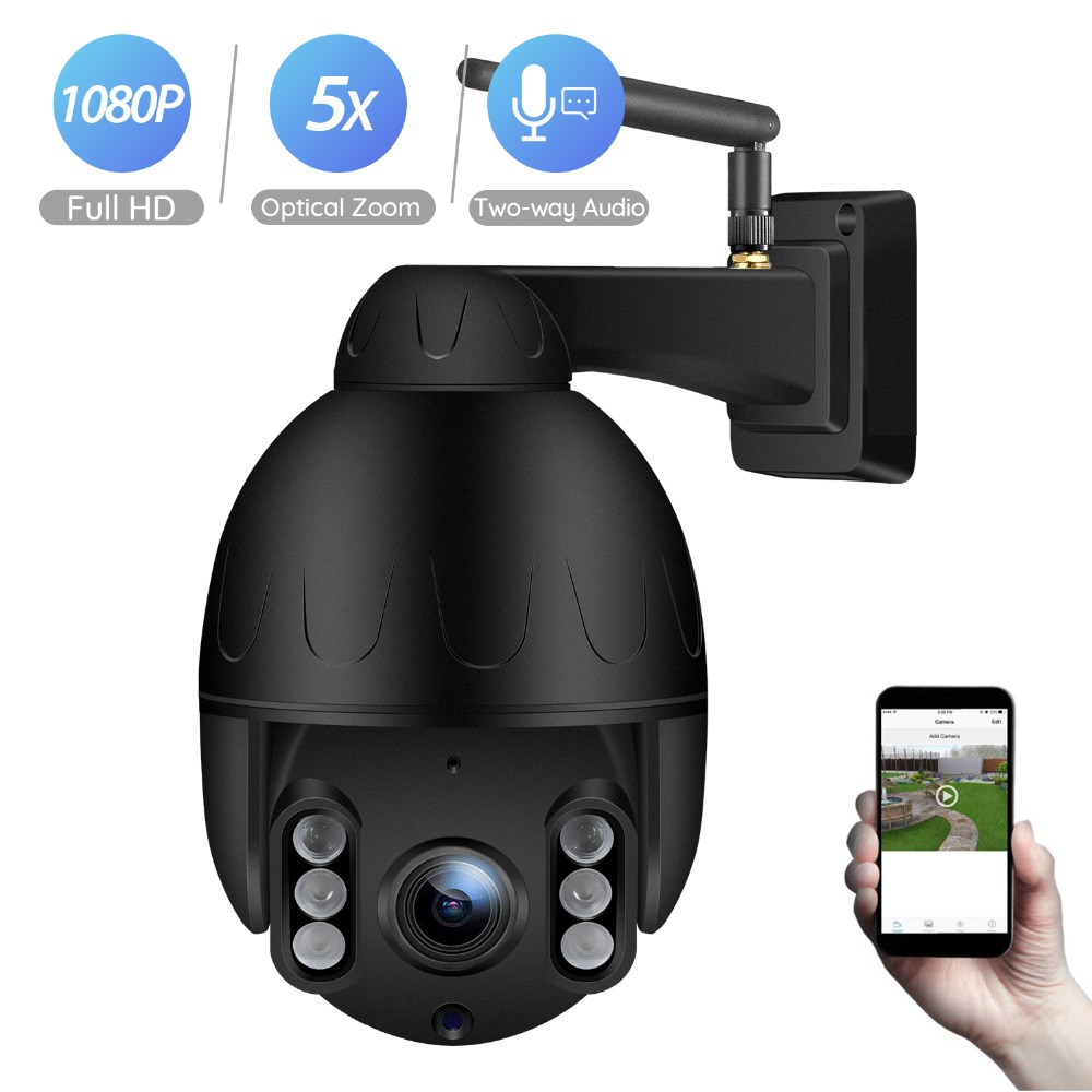 BESDER 1080P PTZ Wifi Camera 5X Optical Zoom 2 7 13 5mm Lens Outdoor Speed Dome