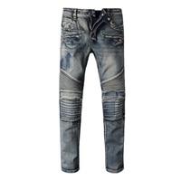 Fashion Designer jeans men Famous Brand Ripped jeans Denim Cotton Robin Jeans Men Casual Pants jeans