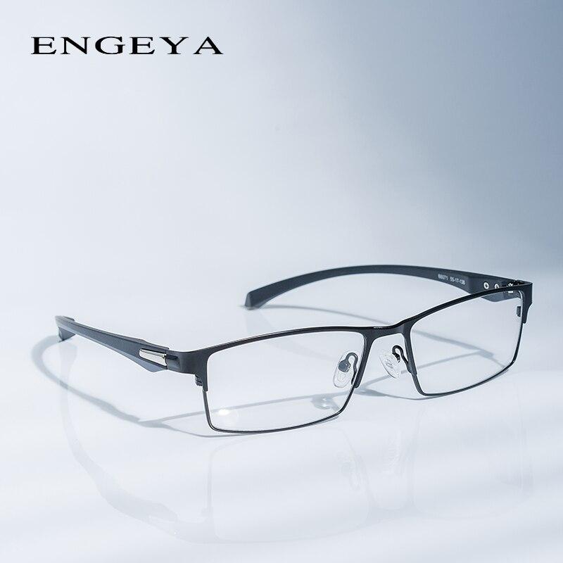 Aleación marco óptico gafas marcos hombres marca diseñador claro ...