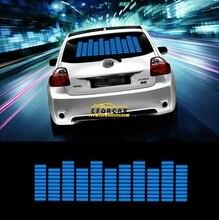 1 Unids X Venta Caliente Azul Etiqueta Engomada Del Coche de Música Ritmo Flash LED de La Lámpara de Sonido Activado Ecualizador Pegatinas de Coches Gratis