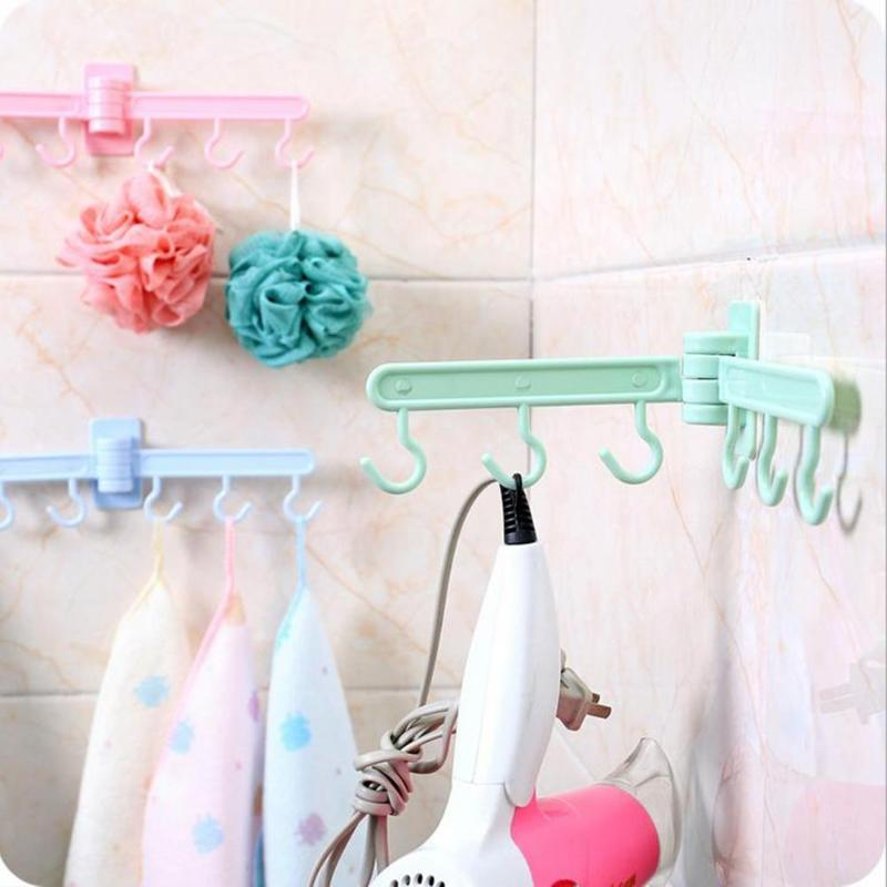 Kitchen Hooks 180 Degree Rotate Strong Sucker Wall Hook Hang Rack Kitchen Cabinet Storage Shelf Vacuum Hooks Organizer For Bags