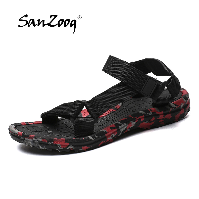Classic <font><b>Men</b></font> Gladiator <font><b>Sandals</b></font> <font><b>Summer</b></font> <font><b>Fashion</b></font> Beach <font><b>Sandals</b></font> <font><b>Outdoor</b></font> Camouflage Roman <font><b>Sandals</b></font> Casual Plus Size 48 image