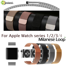 все цены на Milanese Loop Bracelet band For Apple Watch series 1/2/3 42mm 38mm stainless steel watch strap for iwatch series 4 40mm 44mm онлайн