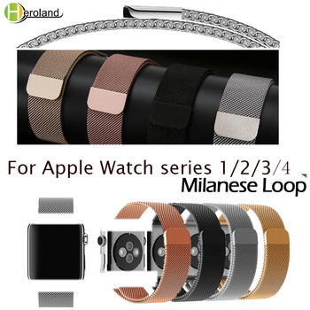 цена на Milanese Loop Bracelet band For Apple Watch series 1/2/3 42mm 38mm stainless steel watch strap for iwatch series 4 40mm 44mm