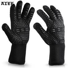 AIEE Enipate 300 500 Celsius Extreme Wärme BBQ Handschuhe Futter Baumwolle Für Kochen Backen Grillen Backofen Mitts
