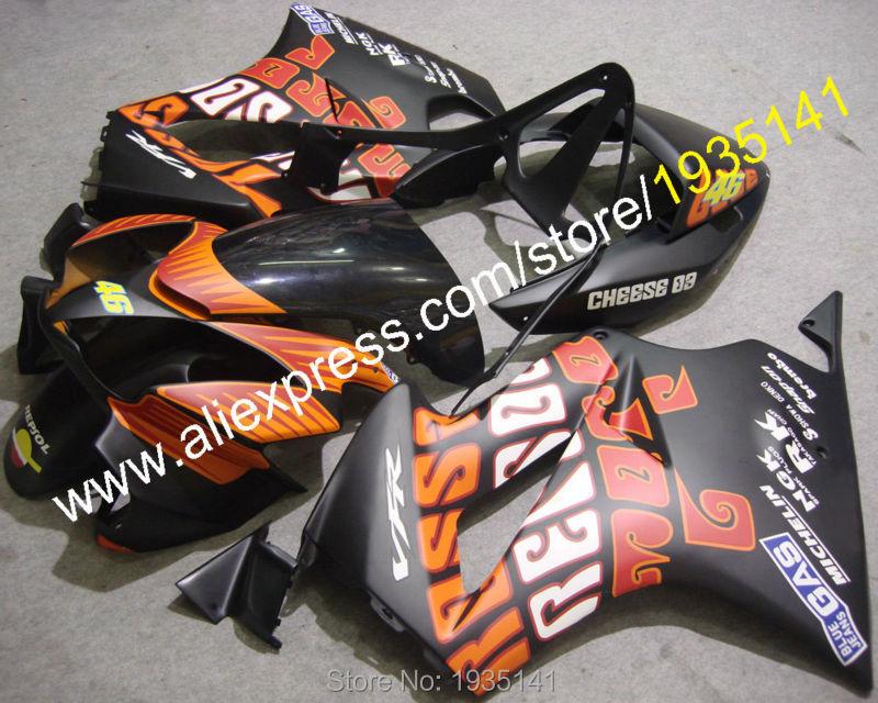 Hot Sales,Repsol 46 kit For Honda VFR800 2002-2012 VFR 800 02-12 decals motorcycle bodywork Fairing set (Injection molding) hot sales yzf600 r6 08 14 set for yamaha r6 fairing kit 2008 2014 red and white bodywork fairings injection molding