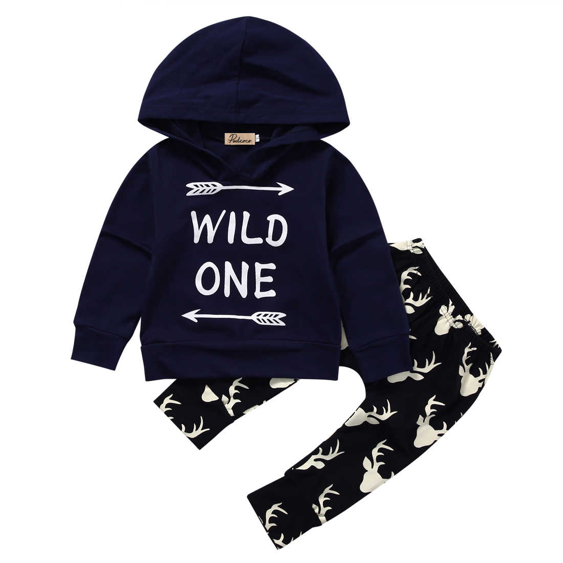 4437ffba5 Detail Feedback Questions about Newborn Baby Boys Tops Wild One Hoodies Long  Deer Pants Outfits Set Clothes Infant Kids Boy Clothing Children Kid  Garments ...