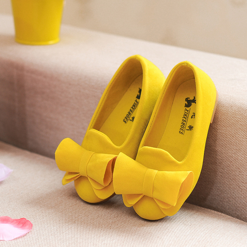 JGSHOWKITO Spring Autumn Fashion Girls Shoes Kids Casual Flats Children Princess Soft Bow-knot Shoes For Toddlers Big Girl Shoes