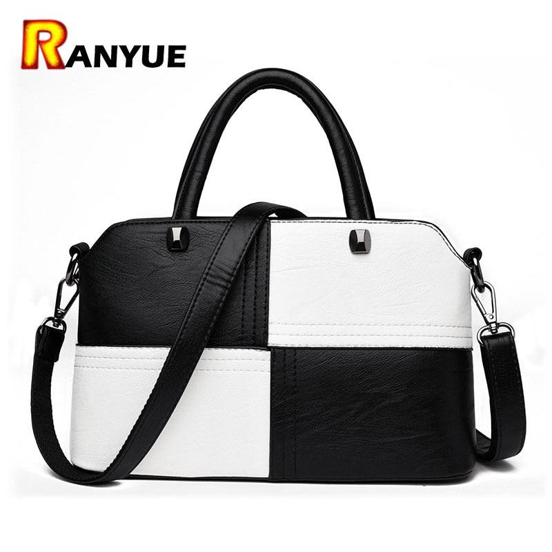 Soft Patchwork PU Leather Bags Women Handbags 2017 Luxury Designer Crossbody Bag High Quality Totes Women