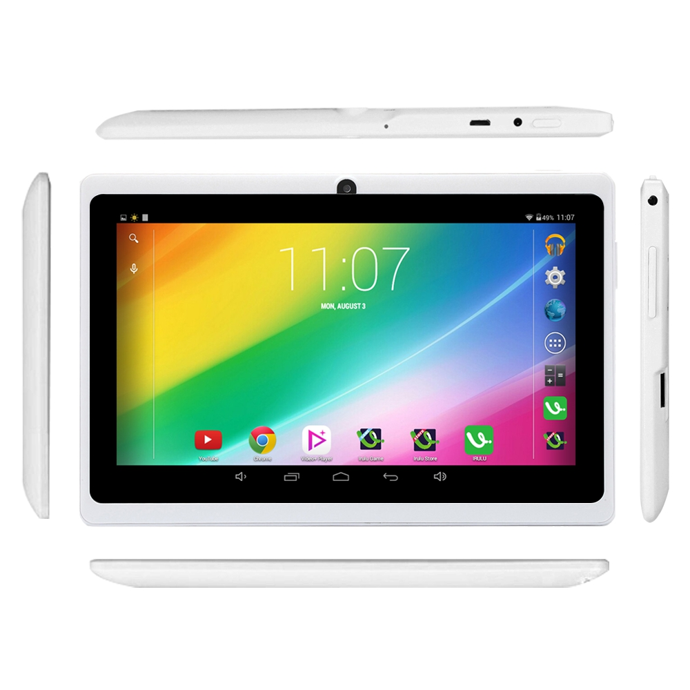 """Irulu expro x1 7 \""""tablet pc allwinner a33 google play app android 4.4 quad core"""