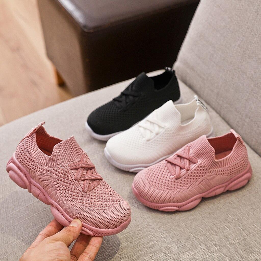 Sneaker Casual-Shoes Anti-Slippery Fly-Knit Children Socks Girls Boys for Running Outdoor