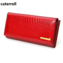 Купить с кэшбэком genuine leather women wallets luxury brand ladies clutch purse alligator pattern wallet long real leather purse