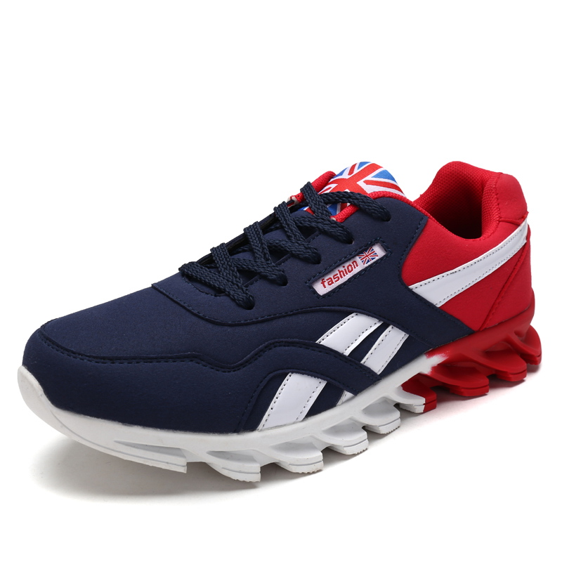 blue grey Lace Rojo Gris Transpirable Zapatos Masculino Hombres Red Azul Up Adulto Casual Otoño Hombre Moda Primavera Zapatillas paF8TnFBq