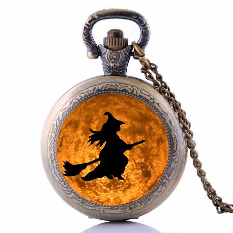 Halloween 2019 Trang Phục Đồ Trang Sức Steampunk Phù Thủy Mặt Trăng Đồng Hồ Bỏ Túi Phụ Kiện Vòng Cổ Vintage