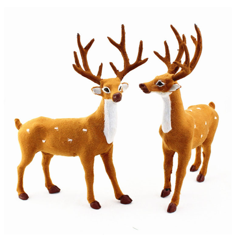 15/20/25cm Reindeer Christmas Deer Elk Plush Simulation Party Decorations For Home New Year Birthday Wedding Toys Kids Gifts