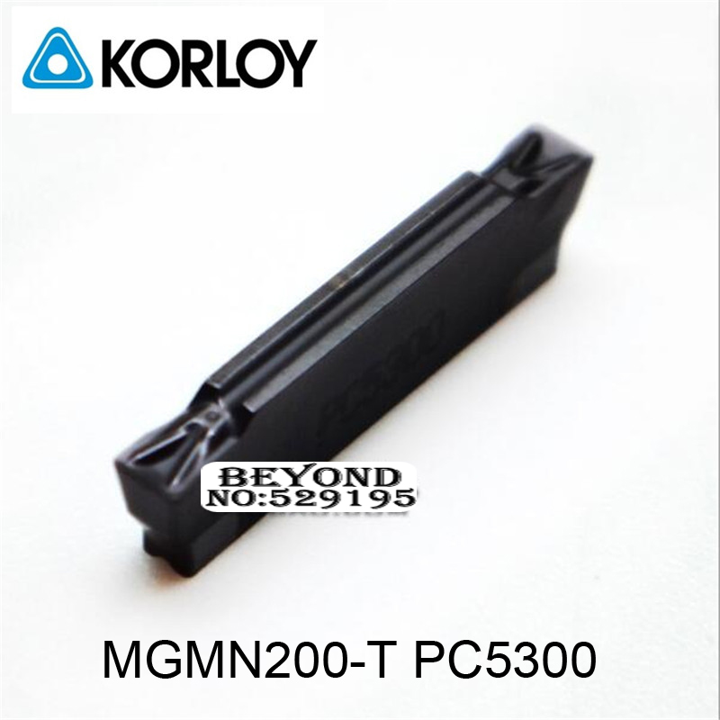 MGMN200 T PC5300 Two headed Cnc Cutting Use For Steel Korloy Carbide Coating Turning Insert For