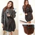 Материнство Пальто Зимой Теплый Толстовки куртки одежда Для Беременных для беременных Pregant Пиджаки Топы Кормящих Куртка Кенгуру
