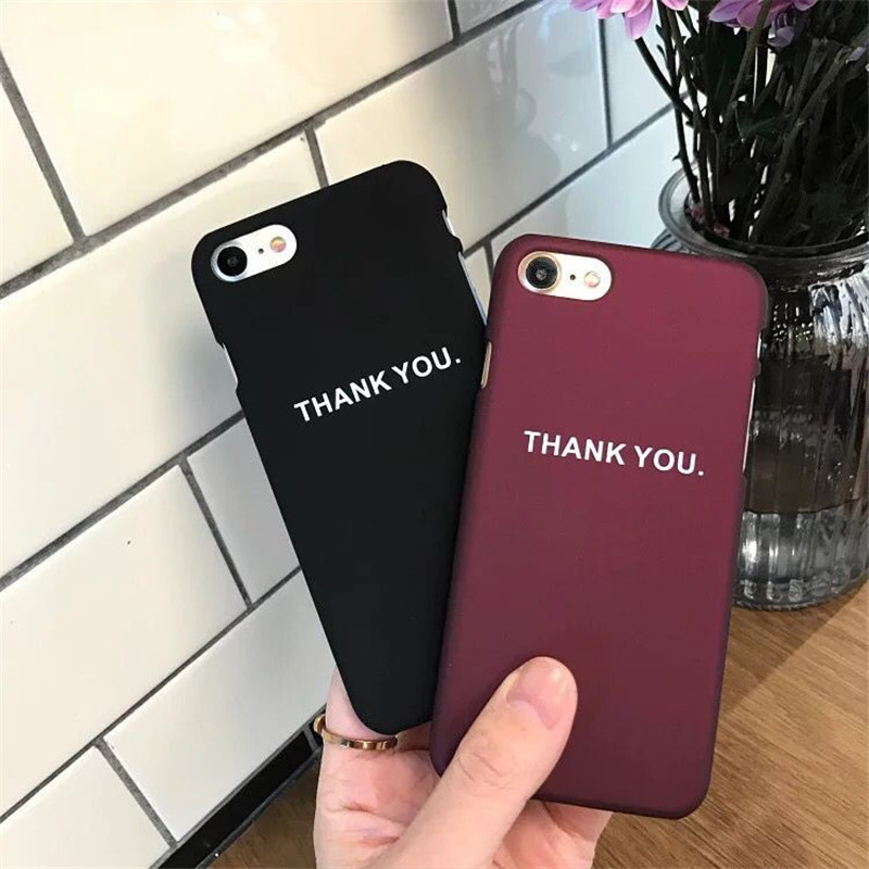 Simple Print thank You Matte Silicone Ultra Thin Gift Plastic Mobile font b Phone b font