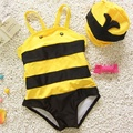 Baby children swimsuit  cute animal bee swimsuit swimming cap baby boy girls kids spa swimwear bathing suits summer underwear