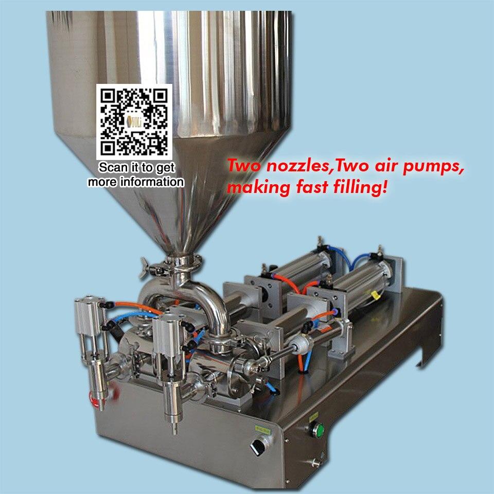 Two Nozzle Filling Machine100ml 500ml 900ml 2500ml 5000ml Water Liquid Filling Machine For Sauce Cream
