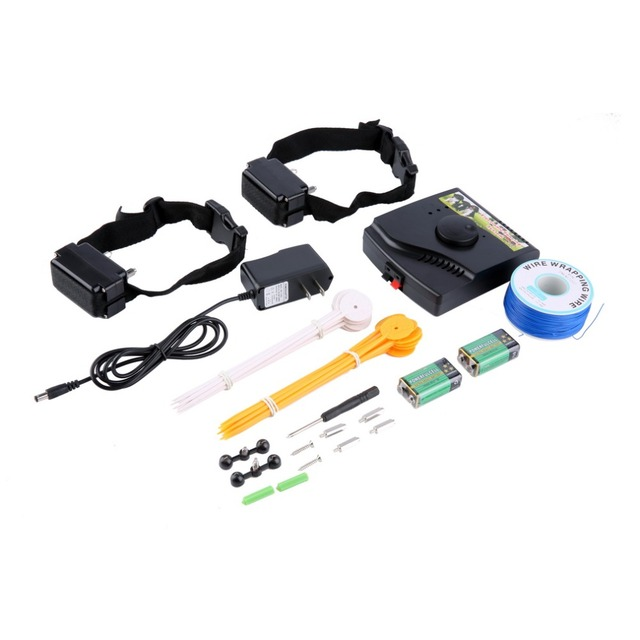 1Pc Dog training Collar Pet Rechargeable Waterproof Fence Fencing System 2 Remote Shock Collars Vibrate